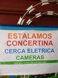 Concertina, Cerca elétrica, Câmera, Motor de Portão