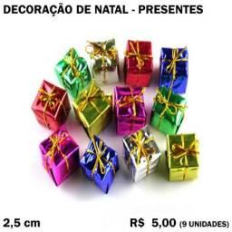 Decoração de Árvore de Natal: Presentes (9 Unidades)