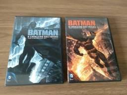 DVDs Batman e o Cavaleiro das Trevas parte 1 e parte 2 (animação)