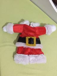 Roupinha de Papai Noel para pet Tam. Pequeno (acompanha o gorrinho)