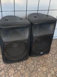2 caixas som Ativa 500w markaudio