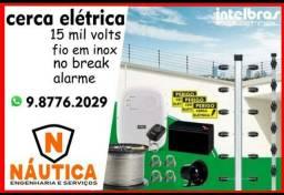 Cerca elétrica industrial na promoção