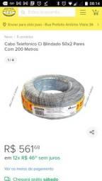 Cabo Telefonico Ci Blindado 50x2 Pares Com 200 Metros