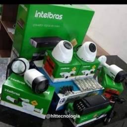 Kit com 4 Cameras Intelbras Garantia de 1 Ano Qualidade HD