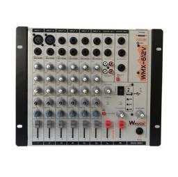 Mesa de Som/Mixer 6 Canais Winvox WMX 612