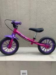 Bicicleta de Equilíbrio Infantil Rosa Nathor