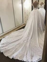Título do anúncio: Vestido Noiva - 2 em 1