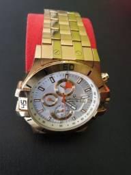 Relógio original Bulova 100 metros passo cartão