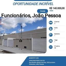 Título do anúncio: Casa para Venda em João Pessoa, Funcionários, 2 dormitórios, 1 suíte, 1 banheiro, 1 vaga
