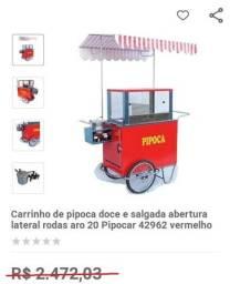 Título do anúncio: Vendo carrinho de pipoca doce e salgada novo - (novo - nunca usado))