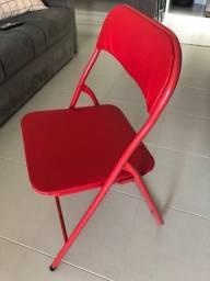 Cadeira dobrável vermelha - 01 unidade