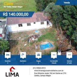 Casa para Venda, Campo Magro / PR, bairro Rio Verde casa 106m² terreno 375m²o
