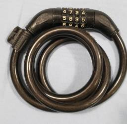 Cadeado para Bicicleta com Segredo, 1,2 cm X 100 cm, em Aço. Aceito Cartão