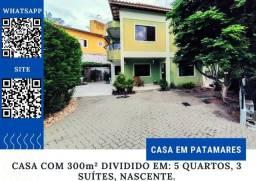 Título do anúncio: Bela Casa em Patamares, 5 quartos, 3 suítes com captação de energia solar