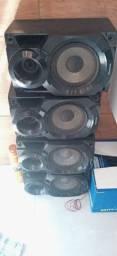 4 caixas de som Panasonic Vendo ou troco