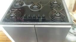 Cook top 5 bocas c/balcão +aparador