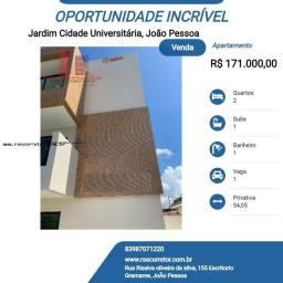 Título do anúncio: Apartamento para Venda em João Pessoa, Jardim Cidade Universitária, 2 dormitórios, 1 suíte