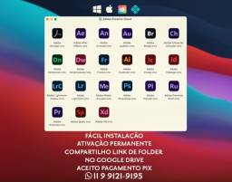 Título do anúncio: Todos os softwares Adobe macOS/Windows