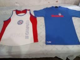 2 camisas do E . C Bahia Tamanho P