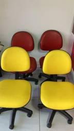 Cadeira almofada giratória ( 6 unidades)