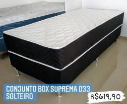 Conjunto Box Suprema D33 BonSono Casal ou Solteiro! Entrega à Domicílio!