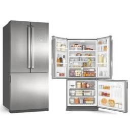 Refrigerador Brastemp Side Inverse BRO80AK com Ice Maker Evox - 540L