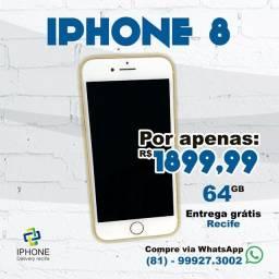 IPhone 8 64gb Gold Completo (Entrega Grátis)