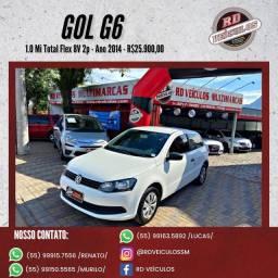 VW - VolksWagen Gol (novo) 1.0 Mi Total Flex 8V 2p 2014 Flex
