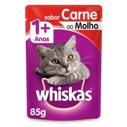 Ração Úmida Whiskas Carne ao Molho 85g 20 Sachês