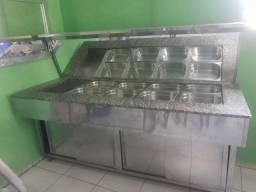 Buffet quente + buffet frio