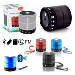 Mini caixinha de som com bluetooth e rádio
