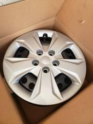 Título do anúncio: Rodas de ferro + calotas originais do Hyundai Creta