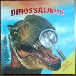 Livro Dinossauros Com Lupa e Repleto de Abas Interativas