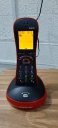 Telefone Intelbras sem fio TS 8220 Vermelho