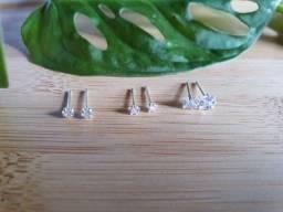Brincos em prata 925