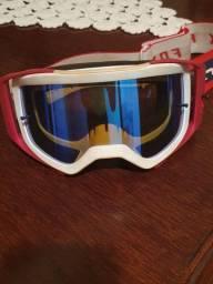 Óculos Fox MX Airspace Simp Spark Azul/Vermelho<br><br>