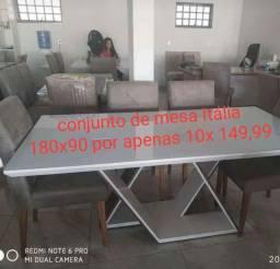 Mesa e cadeiras na promoção
