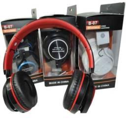 Fone Headphone Bluetooth De Ouvido Sem Fio Micro Sd Usb B-07