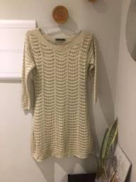 Vestido tricot mangas 7/8 - TAM médio - Usado