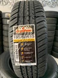 Título do anúncio: Dois pneus 195/60/15 remolde (já instalado)