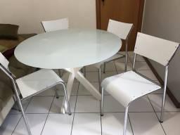 Mesa redonda de vidro tok stok completa