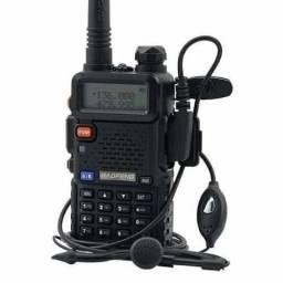 Radio Comunicador Ht Dual Band Uhf Vhf Uv-5r Fm Fone Ptt Transceiver Walk Talk (NOVO)