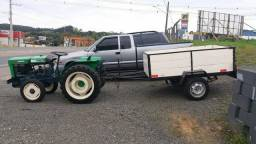 Trator Agrale 4100 com carretinha!!
