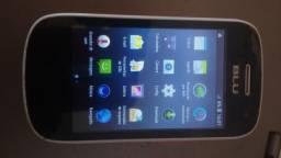 """Celular 1chip desbloqueado blu d141t android 4.4 tela 3"""" pol.camera de selfie ótimo estado"""
