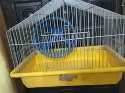 Gaiolinha p Hamster, com roda giratória, bandeja medidas alt . 23 cm largura. 30 profundid