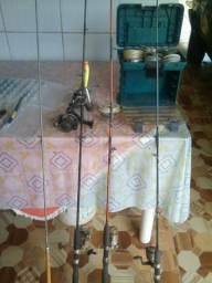 Varas de pescas kit completo