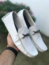 Promoção relâmpago de mocassim em couro legítimo