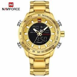 ddcae57d3b5 Relógios naviforce original aço inoxidável analógico e digital