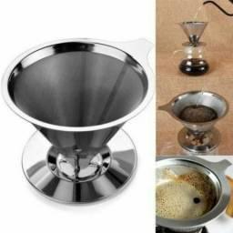 Coador / Filtro de Café Permanente Aço Inox Sem Uso de Papel Pronta Entrega
