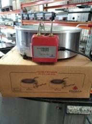 Fritadeira óleo/ óleo e água/ zona fria